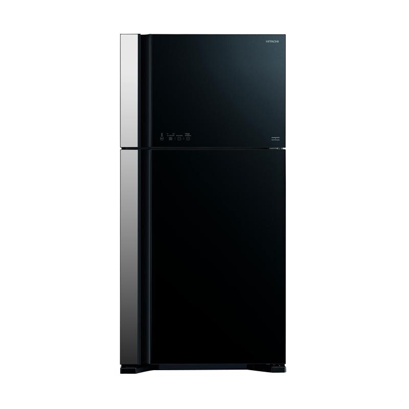 Hitachi Two Door RVG70PGD3GBK Refrigerator