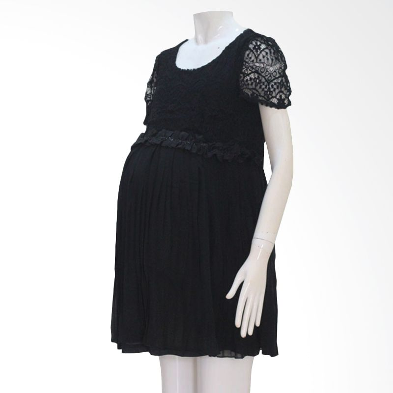 HMILL 124 Pesta Hitam Dress Hamil
