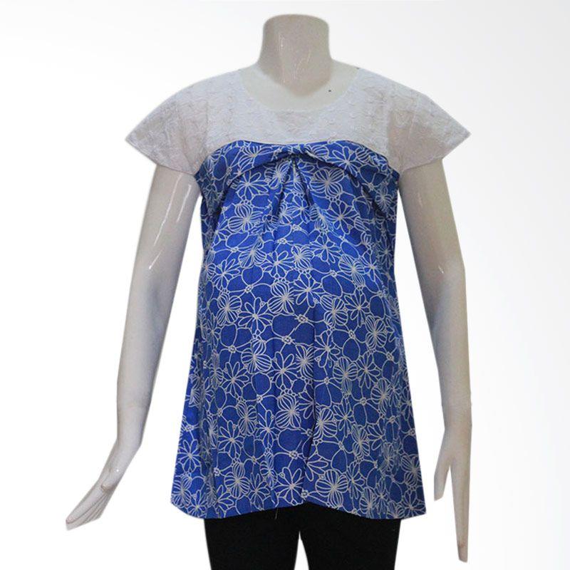 HMILL Blouse 1165 Biru Muda Baju Hamil
