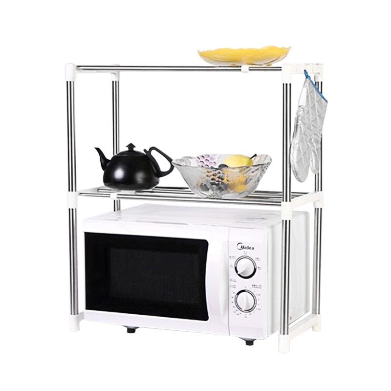 Home Klik Microwave Oven Stainless Steel Shelf Storage Rack Rak Penyimpanan Dapur