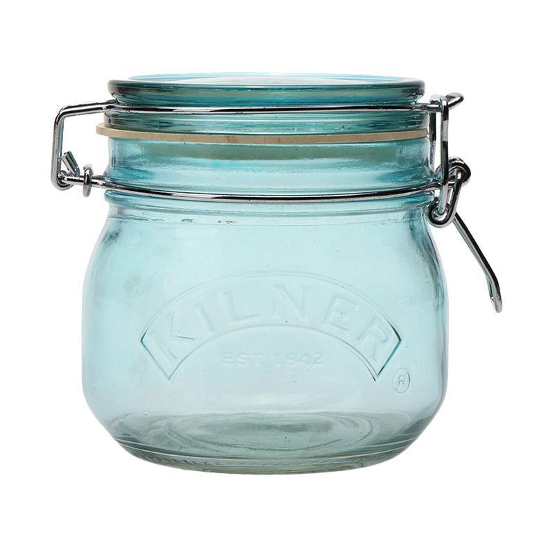 Kilner Round Clip Top Blue Jar 0.5 Liter