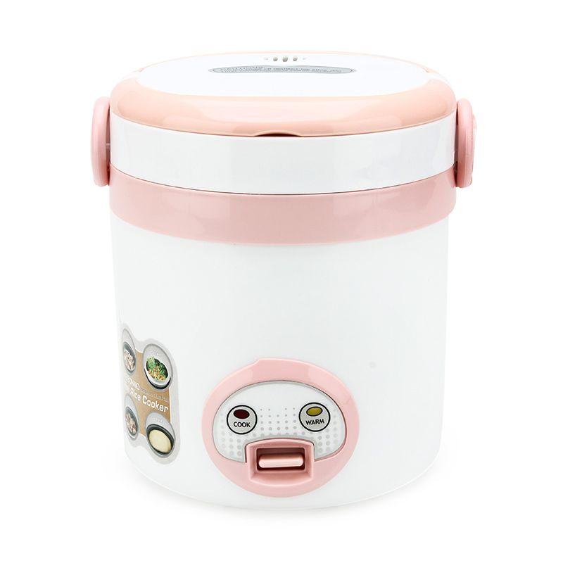 Akebonno MC-1688 Putih Pink Mini Rice Cooker