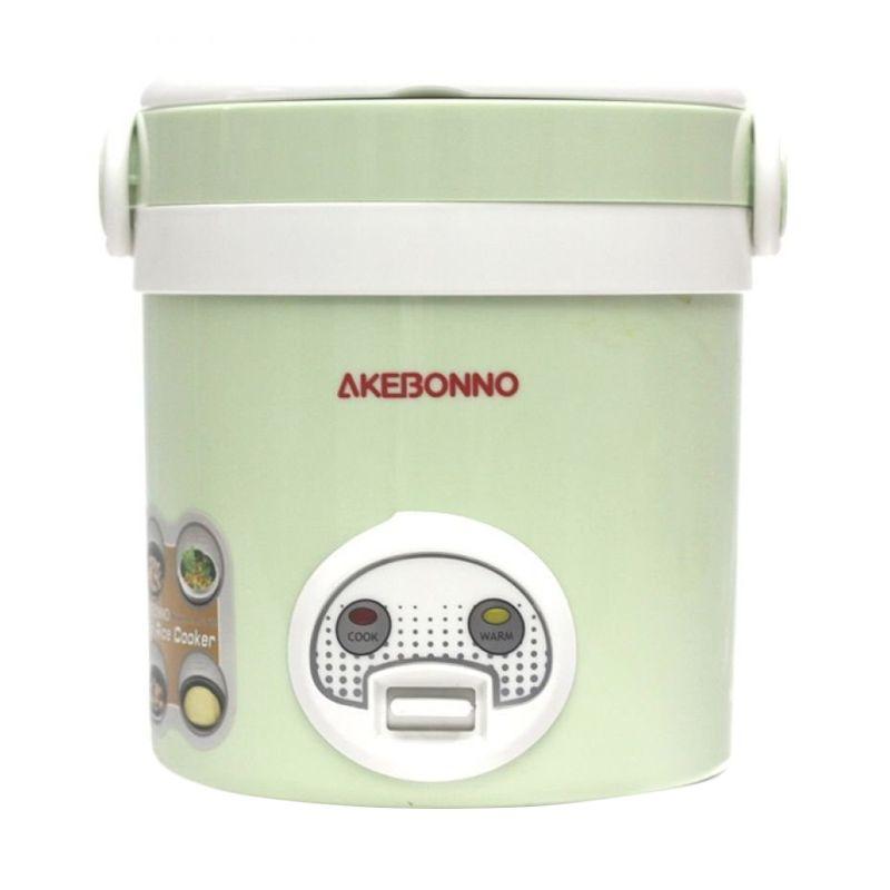 Akebonno MC-1688 Hijau Putih Mini Rice Cooker