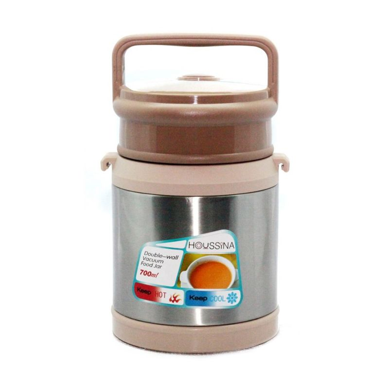 Houssina HS-700VC Coklat Silver Vacuum Food Container