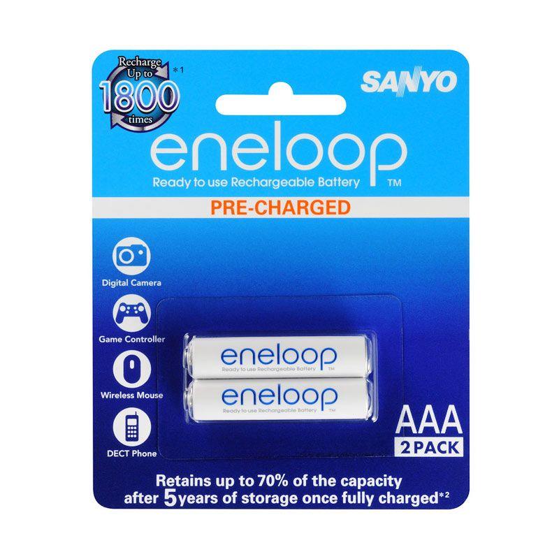Sanyo Eneloop Lite AAA Baterai [2 pcs/600 mAh]