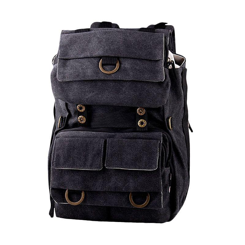 Aosimanni Tubing 1286 Black Backpack Tas Laptop dan Kamera