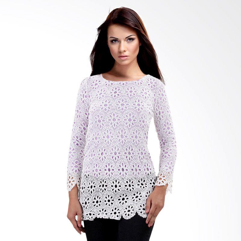 Nana Blanche Fashion Blouse NBTM 3906 Ungu Atasan Wanita