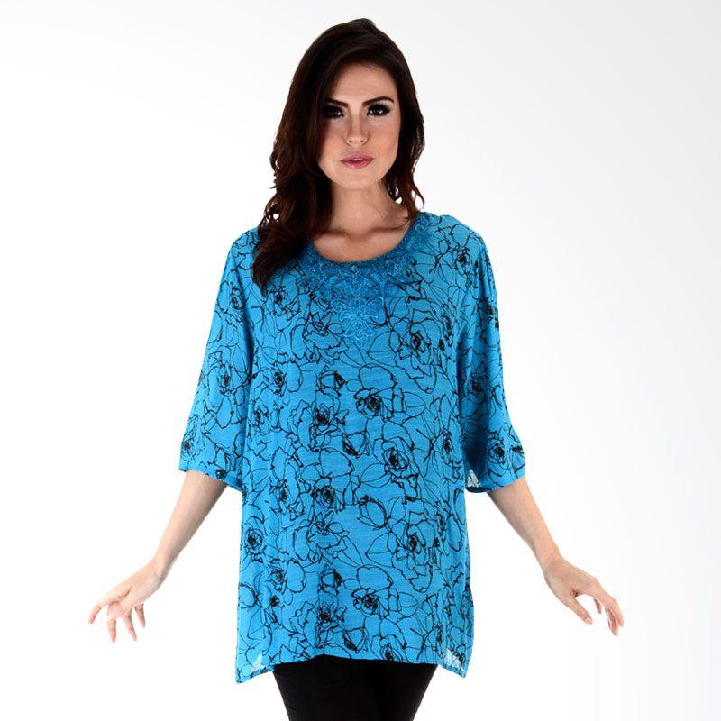 Nana Blanche Fashion NBBL 8628 Biru Blouse