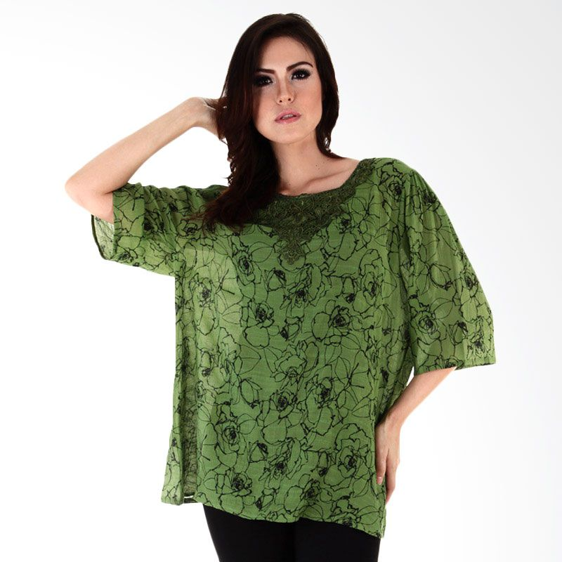 Nana Blanche Fashion NBBL 8628 Hijau Blouse