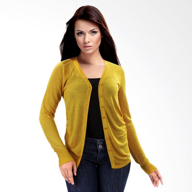 Nana Blanche Fashion NBXJ 616 Dark Yellow Cardigan