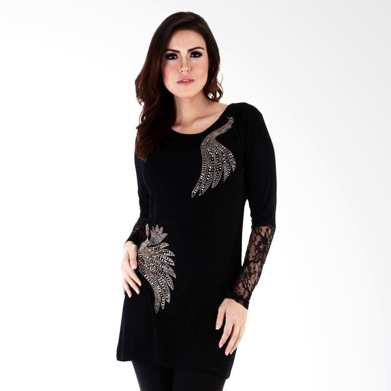 Nana Blanche Tunic Turky Style NBBL 8643A Biru Atasan Wanita