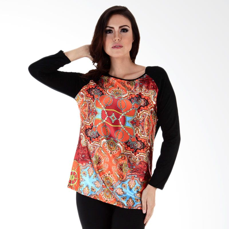 Nana Blanche NBBT 198 Fashion Orange Blouse Atasan Wanita