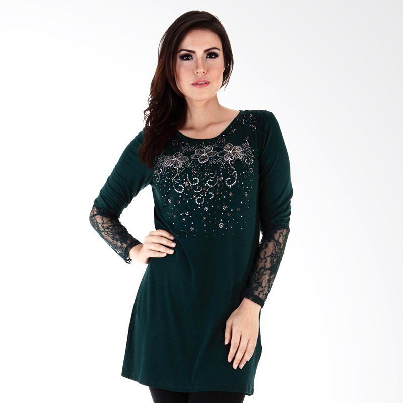 Nana Blanche Tunic Turky Style NBBL 8643B Hijau Atasan Wanita