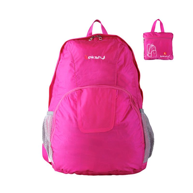 tekstyl Foldable Fashion 2607-07 Pink Backpack