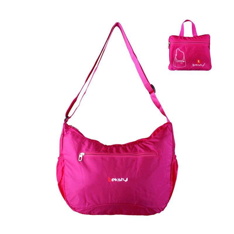 tekstyl Foldable Light Cross Body 2609-07 Pink Sling Bag