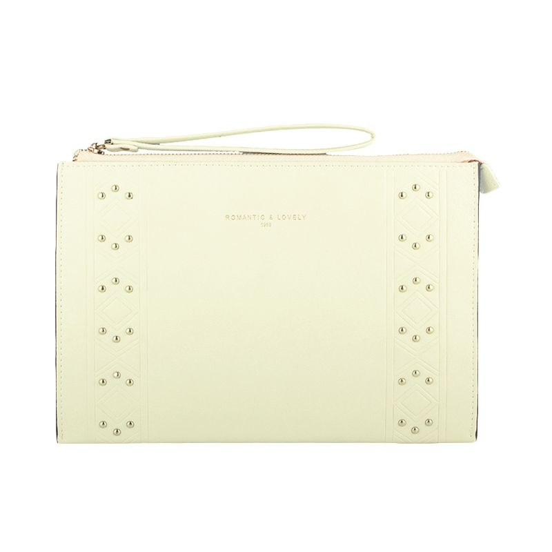 Yadas Korea 911-6 Beige Clutch Bag
