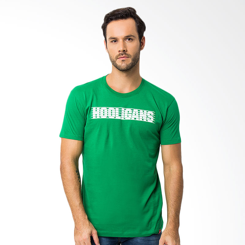 Hooligans Ligne T-shirt - Hijau Extra diskon 7% setiap hari Citibank – lebih hemat 10% Extra diskon 5% setiap hari
