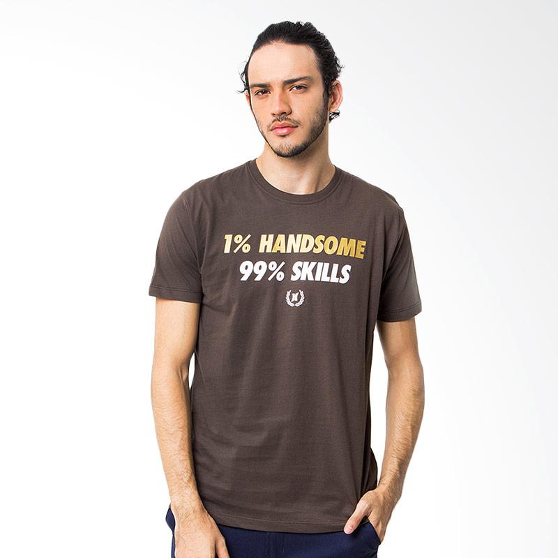 Hooligans One Percent Handsome Atasan Pria - Coklat Extra diskon 7% setiap hari Citibank – lebih hemat 10% Extra diskon 5% setiap hari