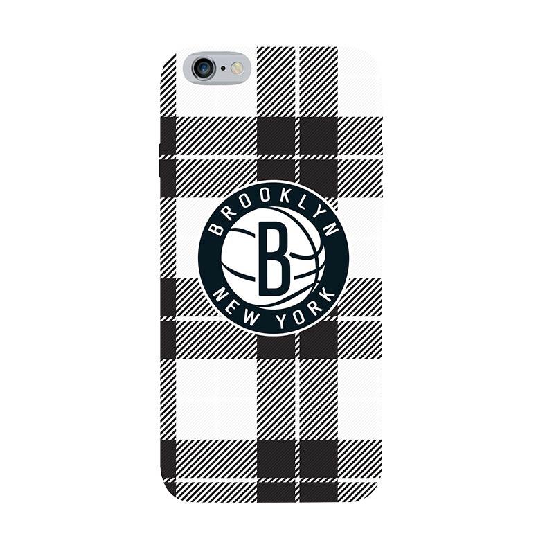 Hoot NBA Brooklyn Nets Plaid Casing for iPhone 6 Plus (SPT-BKN-ART-016-PLUS)