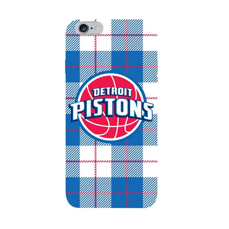 Hoot NBA Detroit Pistons Plaid Casing for iPhone 6 Plus (SPT-DET-ART-016-PLUS)
