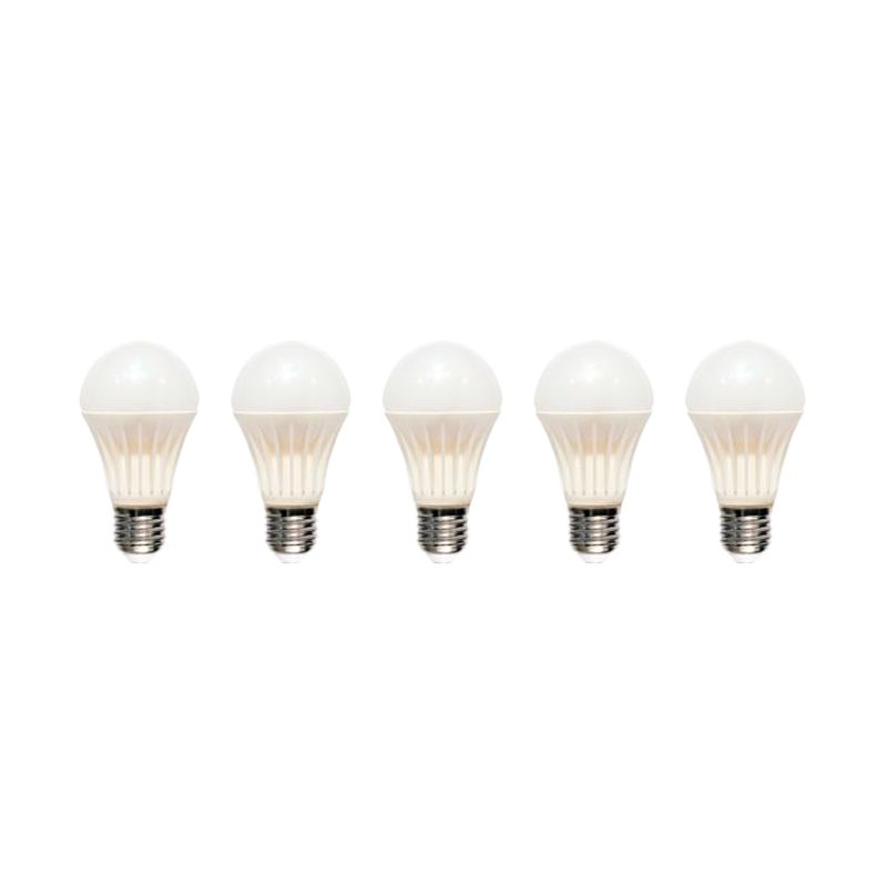 HORI Kuning Lampu LED Bulb Ceramic [9 Watt / 5 Pcs]