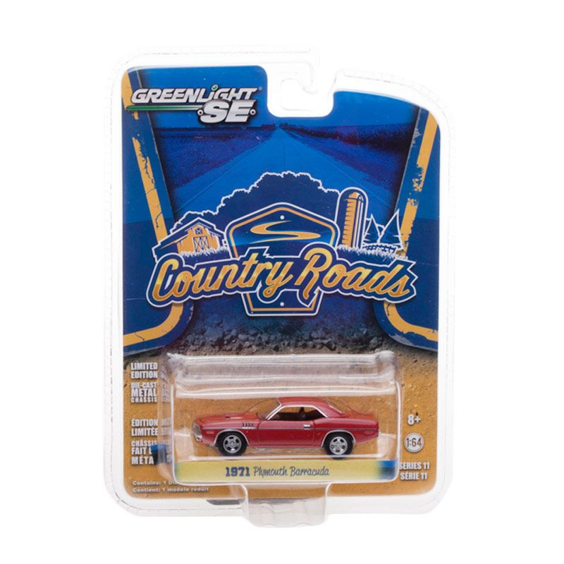Greenlight Country Road 1971 Plymouth Barracuda Diecast