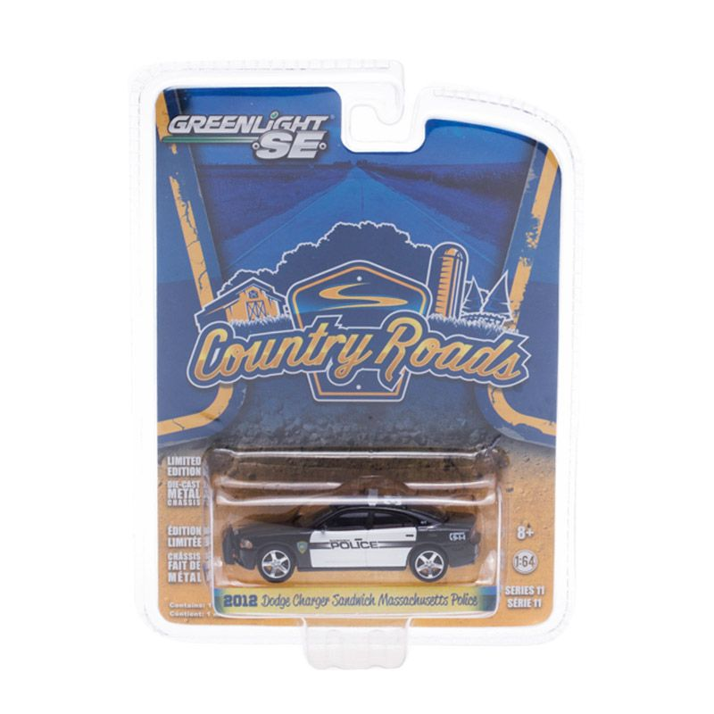 Greenlight Country Road 2012 Dodge Charger Sandwich Massachusetts Police Diecast