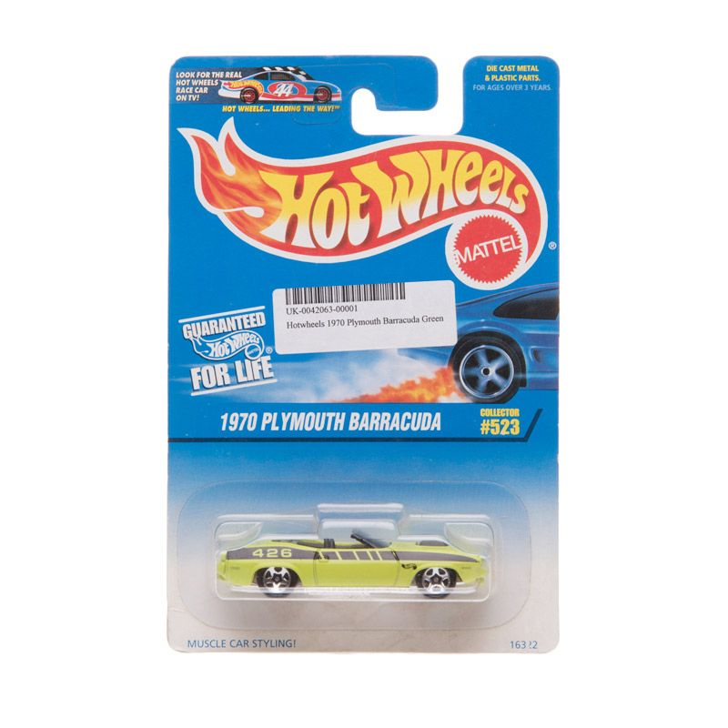 Hotwheels 1970 Plymouth Barracuda Green Diecast