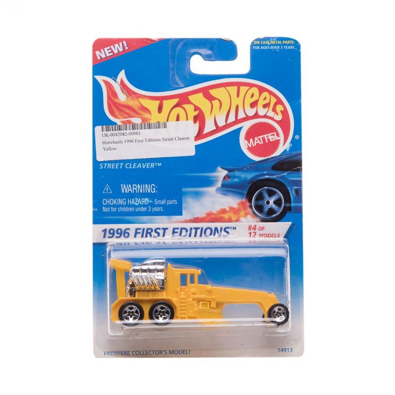 Hotwheels 1996 First Editions Street Cleaver Yellow Diecast