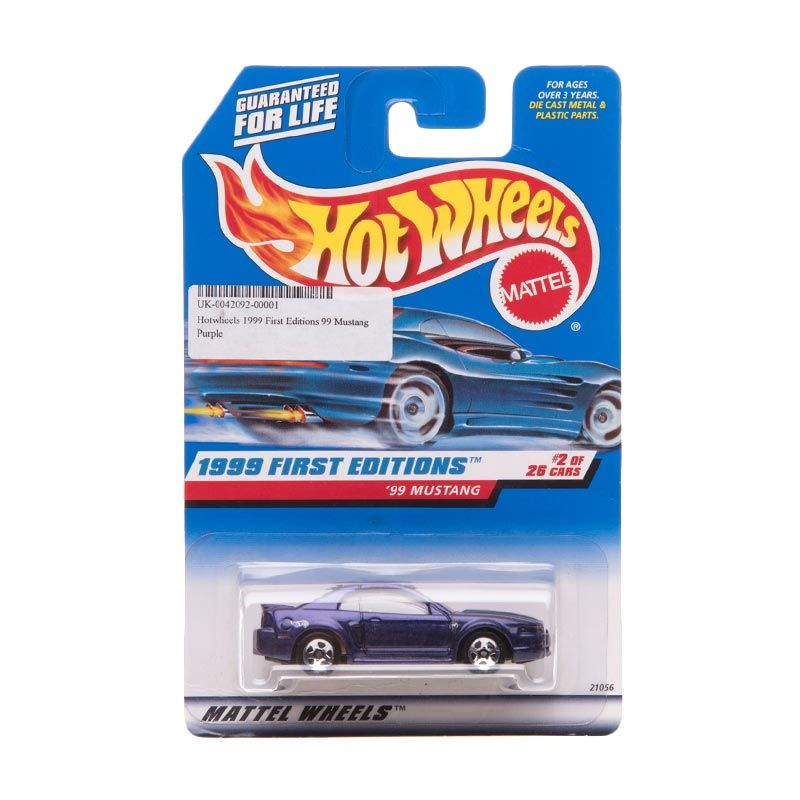 Hotwheels 1999 First Editions 99 Mustang Purple Diecast