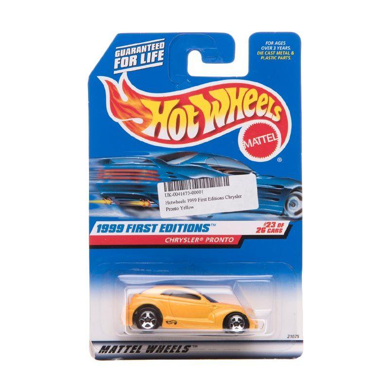 Hotwheels 1999 First Editions Chrysler Pronto Yellow Diecast