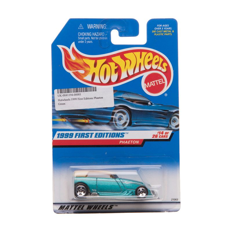 Hotwheels 1999 First Editions Phaeton Green Diecast