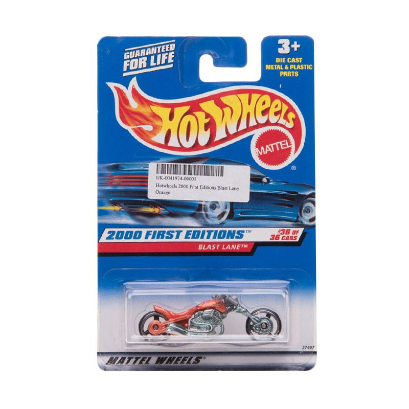 Hotwheels 2000 First Editions Blast Lane Orange Diecast