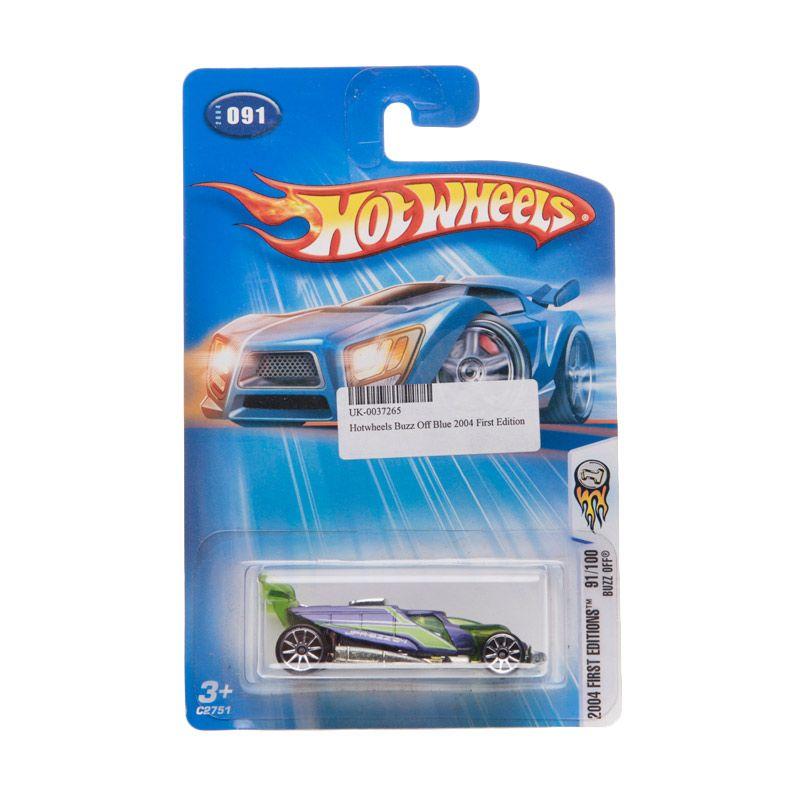 Hotwheels 2004 First Edition Buzz Off Blue Diecast
