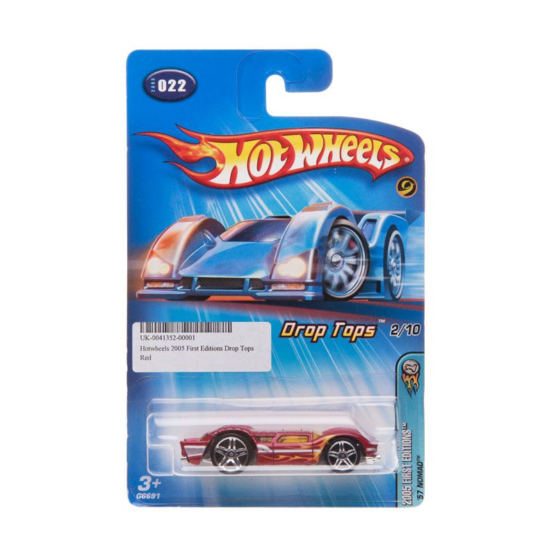 Hotwheels 2005 First Editions Drop Tops Red Diecast