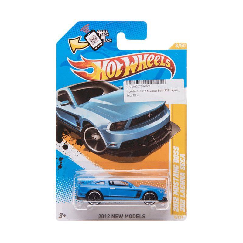 Hotwheels 2012 Mustang Boss 302 Laguna Seca Blue Diecast