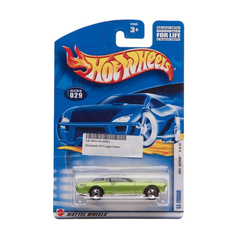 Hotwheels 68 Cougar Green Diecast