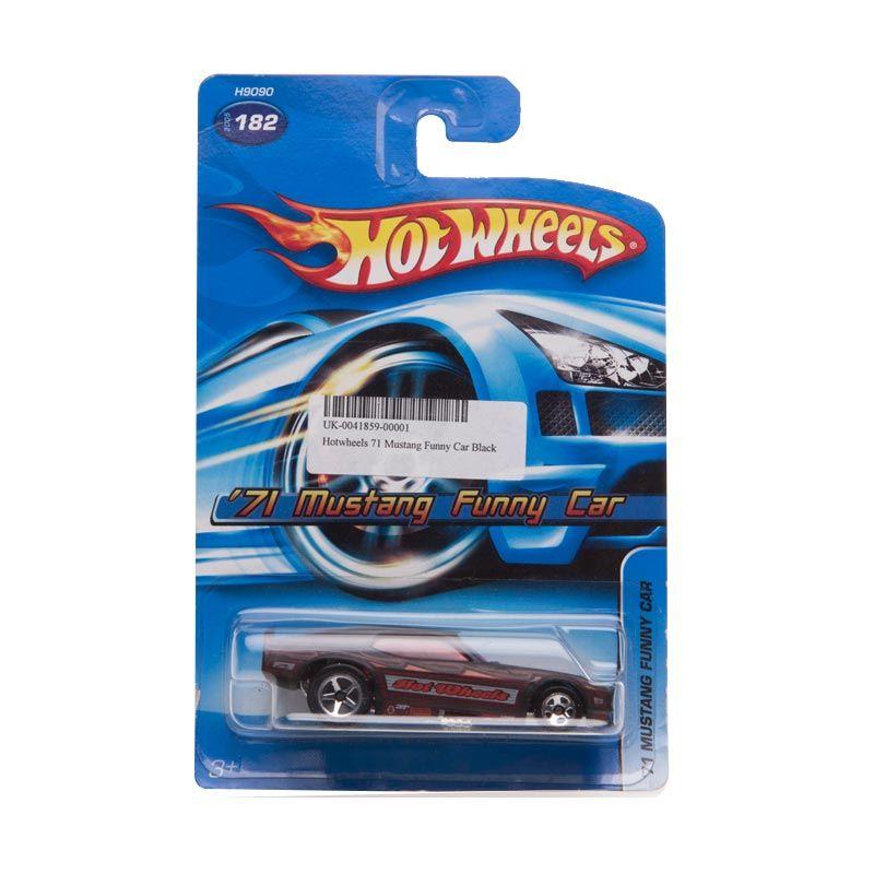 Hotwheels 71 Mustang Funny Car Black Diecast