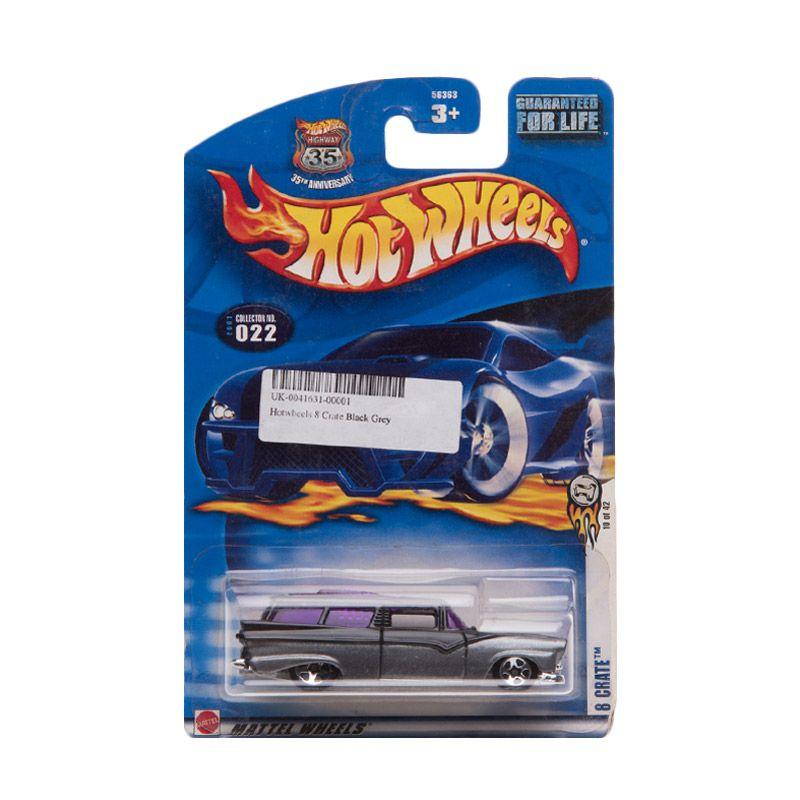 Hotwheels 8 Crate Black Grey Diecast