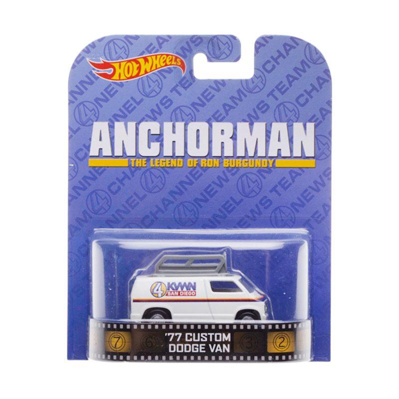 Hotwheels Anchorman 77 Custom Dodge Van Diecast