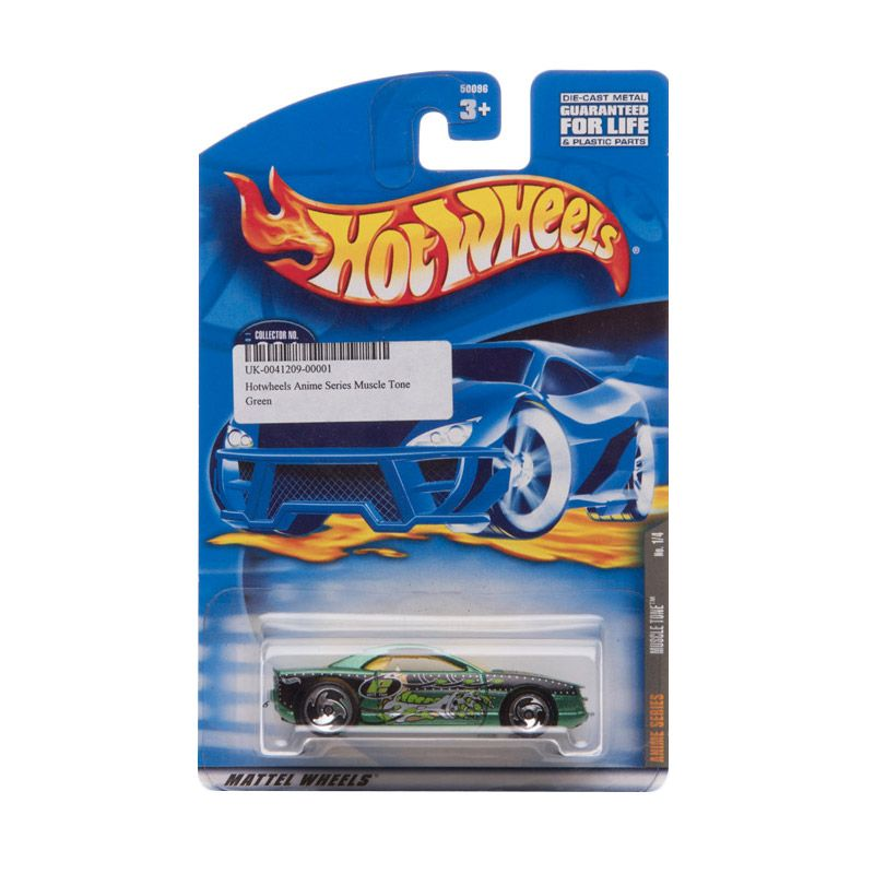 Hotwheels Anime Series Muscle Tone Green Diecast