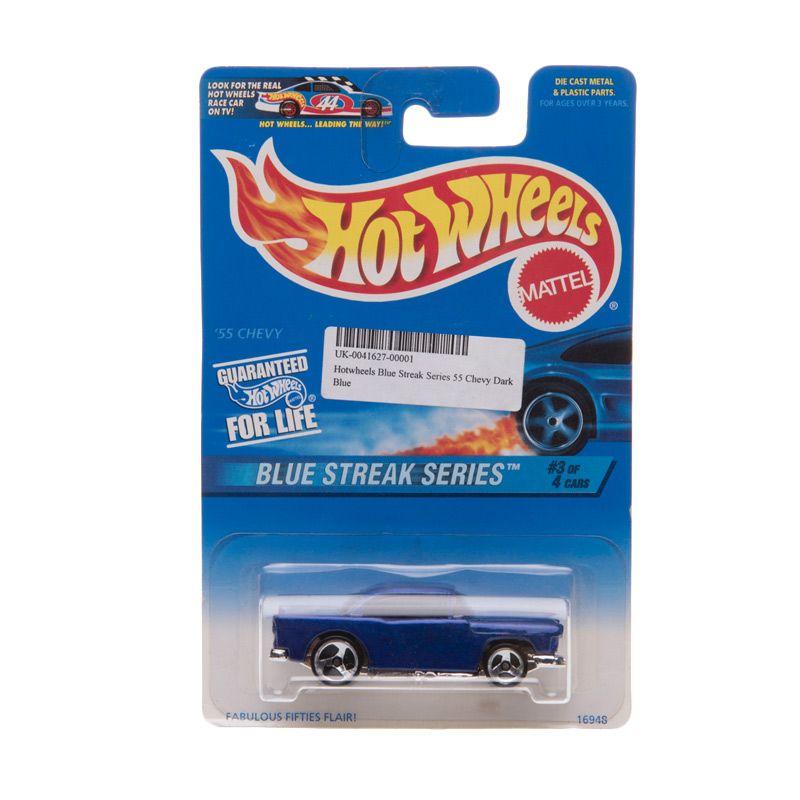 Hotwheels Blue Streak Series 55 Chevy Dark Blue Diecast