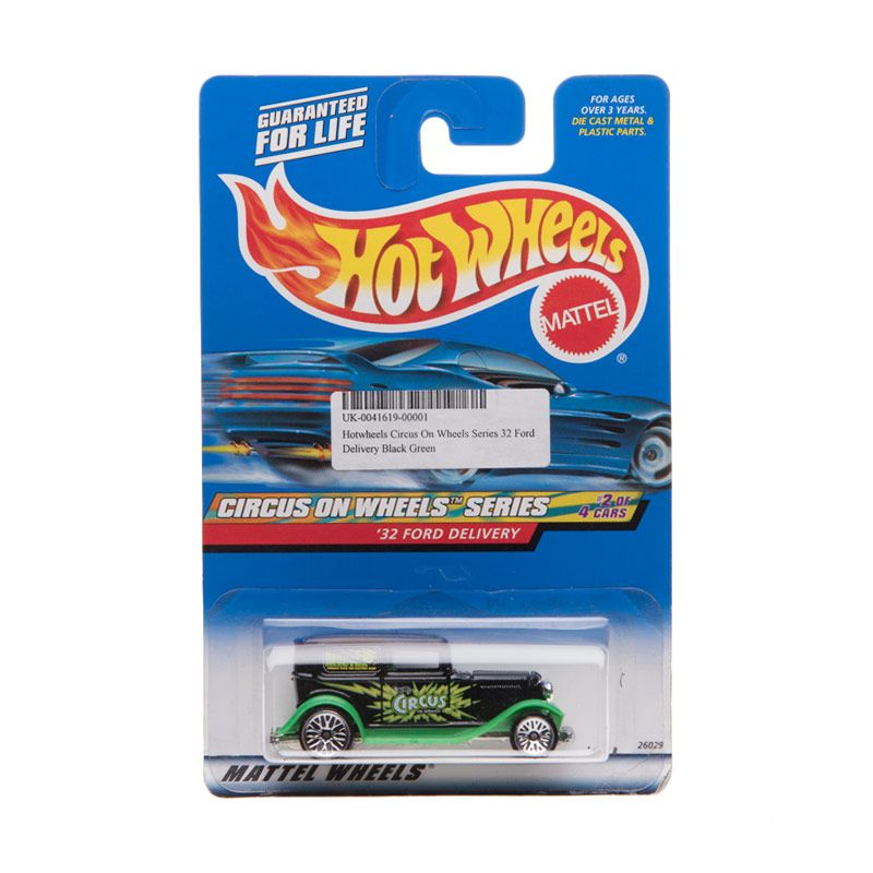 Hotwheels Mattel Wheels Circus On Wheels Series 32 Ford Delivery Black Green Diecast