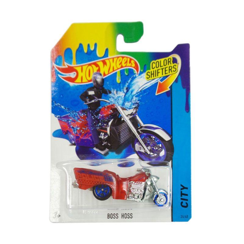 Hotwheels Color Shifters City Boss Hoss Red Diecast