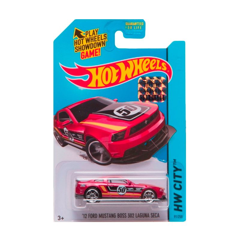 HotWheels Factory Sealed 12 Ford Mustng Boss 302 Laguna Seca Red Diecast
