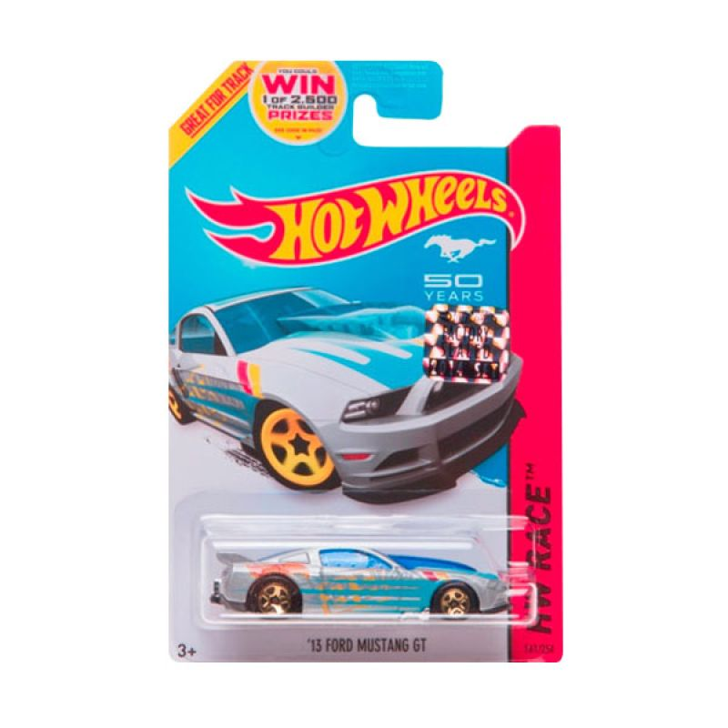 HotWheels Factory Sealed 13 Ford Mustang GT Silver Blue Diecast
