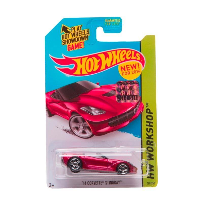 HotWheels Factory Sealed 14 Corvette Stingray Red Diecast
