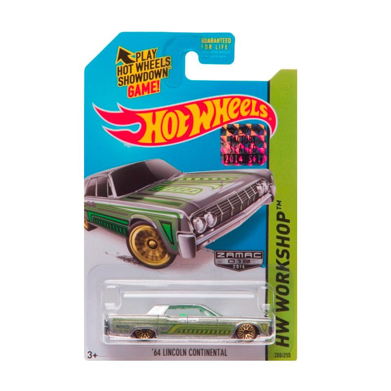Hotwheels Factory Sealed 64 Lincoln Continental Zamac Green Diecast
