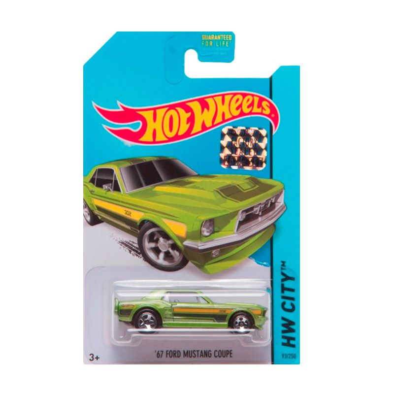 Hotwheels Factory Sealed 67 Ford Mustang Coupe Green Diecast