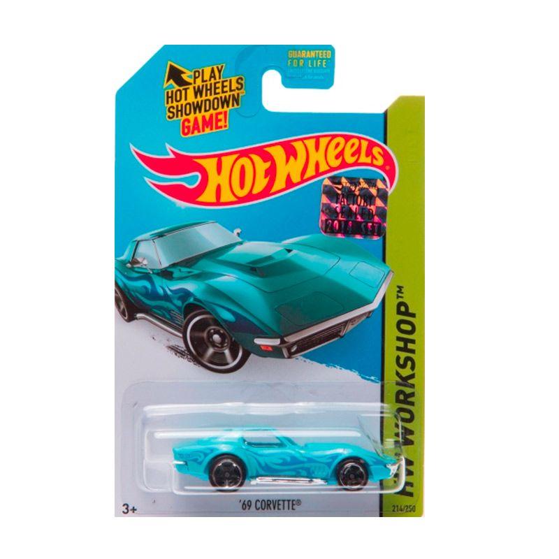 HotWheels Factory Sealed 69 Corvette Blue Diecast
